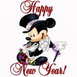 micky mouse animation happy new year card